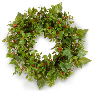 christmas holly ivy wreath awaypoint