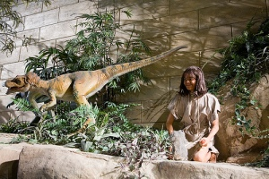 Human with Dinosaur at Kentucky Creation Museum