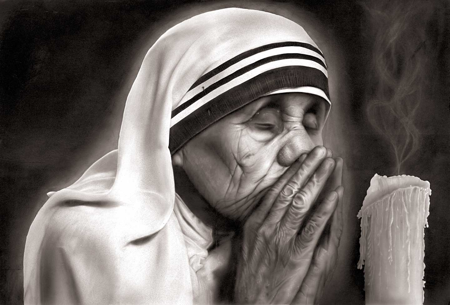 Self-Flagellation and the Excruciating Kiss of Jesus ... Mother Teresa With The Poor