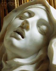 Detail of the  by Gian Lorenzo Bernini