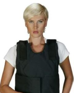 Woman in bulletproof vest