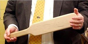 wooden spanking paddle