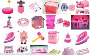 Pink Plastic toys