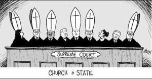 Supreme Court with Bishop Hats - Modified to add 6th Catholic
