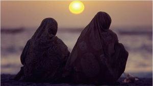 Sunset on hijab