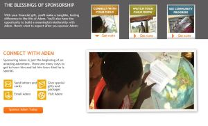 World Vision Sponsorship blessings