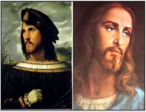 Image of Christ is really Cesare Borgia.
