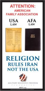MRFF - AFA Religion rules Iran