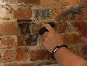 Chiseling Brick