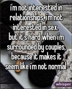 Not interested in sex - hard around couples