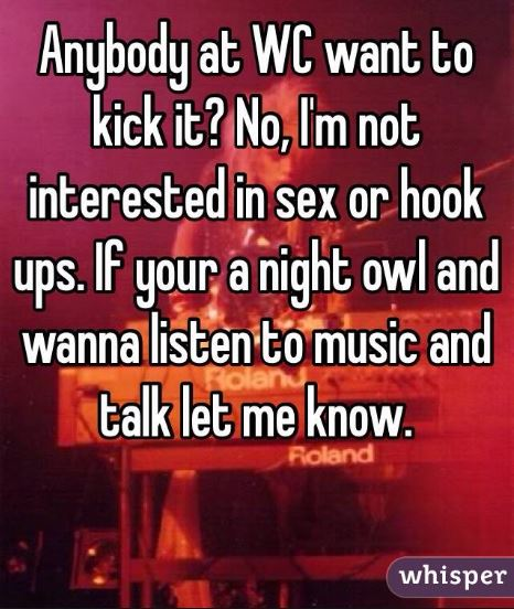 Not interested in sex - music