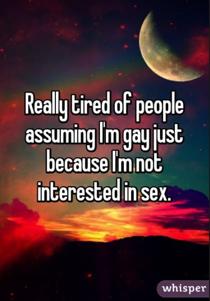 Not interested in sex - not gay