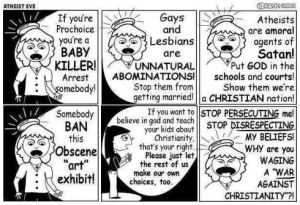 Christian Persecution Complex - Atheist Eve