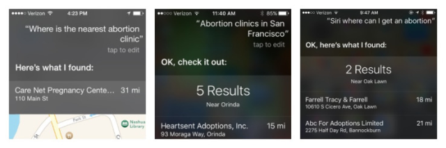 Apple search abortion