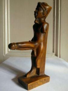 Egyptian penis statue