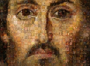 Jesus collage of icons