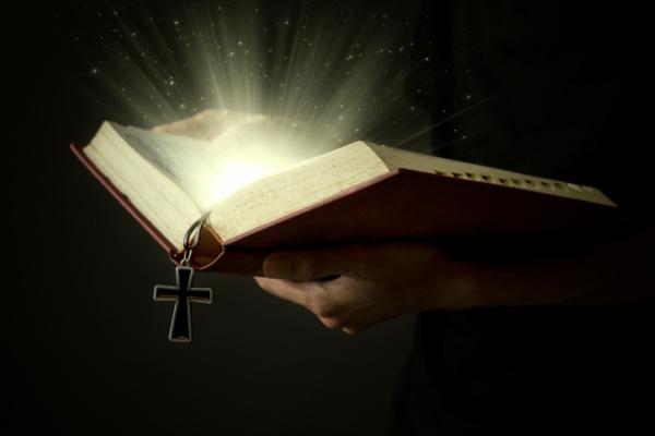 Magic light of holy bible